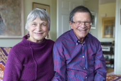 Allen and Renate at their home in New Paltz, New York.